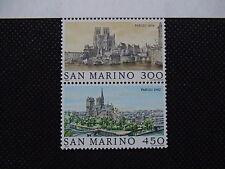 SAN MARINO 1982 serie 2 francobolli TEMATICA : CITTA' deI MONDO PARIGI em.006A