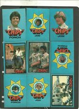1979 Donruss CHIPS Stickers Cards Complete Set C.H.I.P.S Non Sport