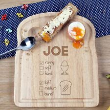 Kids Birthday Christmas Children Gift Personalised Egg & Toast Preference Board
