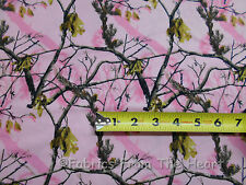 Realtree Pink Tree Branches Camo BY YARDS Print Concepts Cotton FLANNEL Fabric