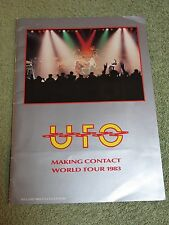 UFO making contact 1983 World Tour Programme Calendar + Poster!