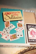 SOLITAIRE BOOK, 1950, VINTAGE, 150 WAYS TO PLAY SOLITAIRE, A CLASSIC!!!