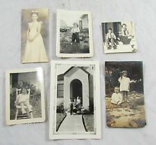 Lot of 6 Vintage BW Small 1920s-1950s Children Photo Photographs