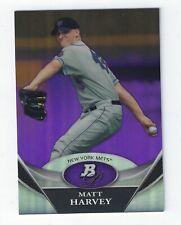 2011 Bowman Platinum Prospects Purple Refractors #BPP66 Matt Harvey