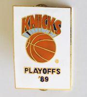 Knicks Basketball Playoffs 1989 NBA Pin Badge Authentic Vintage (C5)