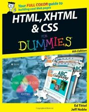 (Very Good)-HTML, XHTML and CSS For Dummies (Paperback)-Noble, Jeff, Tittel, Ed-