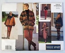 Vogue Sport 1213 Jacket Poncho Dress Top Skirt Pants Sewing Pattern Uncut 12-16