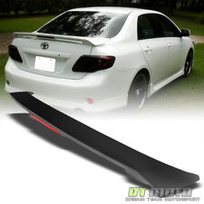 For 09-13 Toyota Corolla S LE XLE XRS Rear Trunk ABS Spoiler Wing+LED Brake Lamp