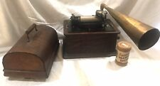 Edison Standard Cylinder Phonograph Player W/17 Cylinders