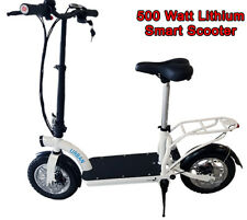 New Urban Smart Lithium 500watt Electric Scooter w/ Seat & Luggage Rack