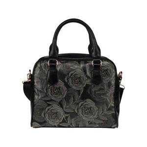 Black Rose Ladies Small Handbag, Crossbody Bag, Punk, Alternative, Goth