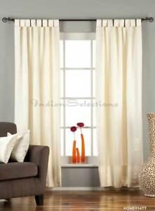 "Cream Tab Top 90% blackout Curtain / Drape / Panel - 50X84"" - Piece"