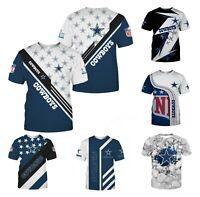 Dallas Cowboys T Shirt Men's Casual Short Sleeve Tee Top Shirts S-3XL Fans Gift