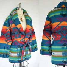 Pendleton Southwestern Aztec Blanket Native American Rainbow Coat jacket sweater