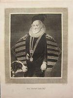 1793 ANTIQUE LONDON PRINT ~ SIR HENRY LEE