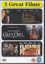 1492 Conquest of Paradise + Grey Owl + Flight of the Phoenix UK R2 DVD