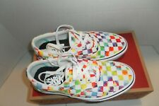 NEW Vans Rainbow Checkered Sneakers Skateboard Shoes Woman's Size 6  Men's 4.5