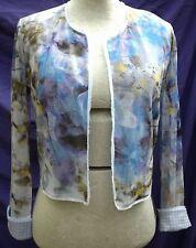 Sommerkostüm N6 MARC CAIN Blumen Gr.44 Sommerkleid Jäckchen Rock Kostüm NP318€