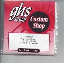 GHS VIHUELA REGULAR TENSION NYLON STRINGS- FREE USA SHIPPING