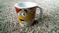 -126- M&Ms Collectible Coffee Mug Galerie Yellow Valentine's Day Hearts