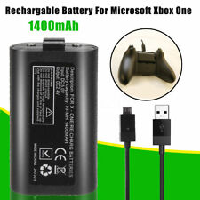 Rechargeable Battery Pack + Free 2M 6FT Lead Cable - for XBOX ONE Controller Pad
