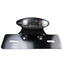 Negro Cat Eye LED luz trasera con negro soporte de matrícula de para custombikes