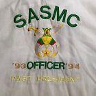 vintage SASMC 93/94 OFFICER~PAST PRESIDENT SHRINERS SHIRT MEN'S 4XL xxxxl SHRINE