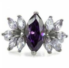 Unbranded Cubic Zirconia Marquise Cocktail Costume Rings