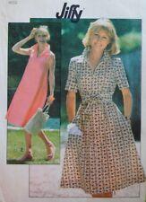 Uncut Vtg 1970s Simplicity 8403 Pattern Misses Dress Zipper Collar 16 Bust 38