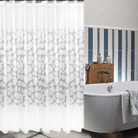 White Stone Pattern Shower Curtain Bathroom Waterproof Anti-mould PEVA 8 Sizes