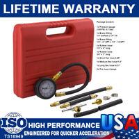 0-100PSI Auto Gasoline Fuel Injection Pump Injector Tester Test Pressure Gauge