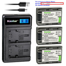 Kastar Battery LCD Dual Charger for Sony NP-FP30 NP-FP50 NP-FP51 NP-FP60 NP-FP70