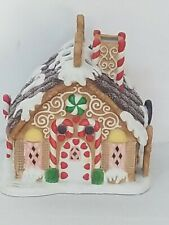 Partylite Gingerbread Xmas House Tealight Candle Holiday Village P7304 As Is