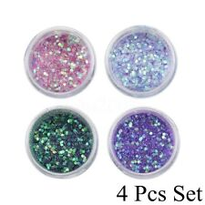 Hot 4pcs Mixed Mermaid Body Art Holographic Cosmetic Face Eyeshadow Loose Powder 4 Pcs Set