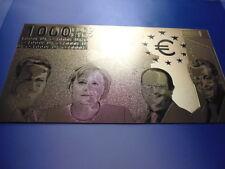 1000 EURO / 24 KARAT GOLD / GOLDFOLIENNOTE GOLDBARREN #5019