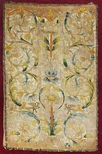 Antique 17th Century Continental Silk Embroidered Panel