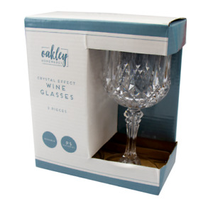 Plastic Crystal Effect Wine Glasses  Selected Quantity 4 or 6 s