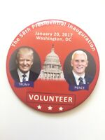 """2017 President Donald Trump Inauguration Day 3"""" Button Vintage Volunteer Pin"""