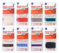 Griffin® Naturseide Faden mit Nadel für Perlen aufreihen * viel Farben