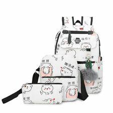 Backpack Set For Girls Teenagers College Student Schoolbag Shoulder Bags Women 3