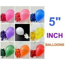 "5""-10"" inch Plain Balloons Assorted Colours Small Best Quality Latex Baloons"