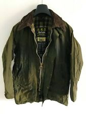 Mens Barbour Beaufort wax jacket Olive Green coat 40 in size Medium / Large M/L
