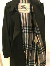 BURBERRY Trenchcoat Damen Gr. 34/36 Mantel schwarz