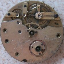 HAAS & PRIVAH OLD POCKET WATCH MOVEMENT KEY WIND 44,5 mm. in diameter