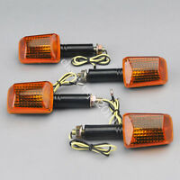 4x Orange Lens Motorcycle ATV Bike Bulb Amber Turn Signal Indicators Light 12V