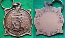 "MEDAGLIA PORTACHIAVI CONCIERGE ""HOTEL VILLA KING / SAN REMO"" LIGURIA IMPERIA"