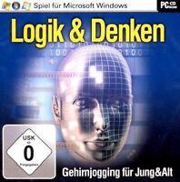 LOGIK & DENKEN - 25 original Gehirnjogging-Spiele (PC) - NEU & SOFORT