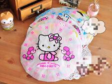 Rose mignon rouge hello kitty bonnet de douche bain enfants femme kawaii