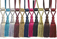 Monaco Designer Tassel Rope Tie Back For Fabric Curtain Sold In Pairs 13 Colours