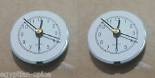2x Small Clock Mechanism White / Black Movement Alarm DIY Quartz AG13 LR44